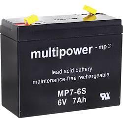 Olovni akumulator 7 Ah multipower MP7-6S 300402 olovo (AGM) (Š x V x DB) 116 x 99 x 50 mm plosnati utikač 4.8 mm bez održavanja,