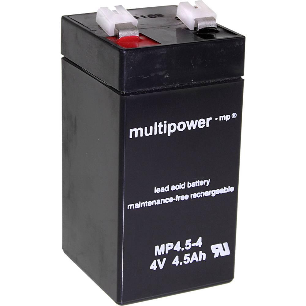 Svinčev akumulator 4.5 Ah multipower MP4,5-4 A960445 svinčevo-koprenast (AGM) 48 x 100 x 52 mm ploščati vtič 6.35 mm