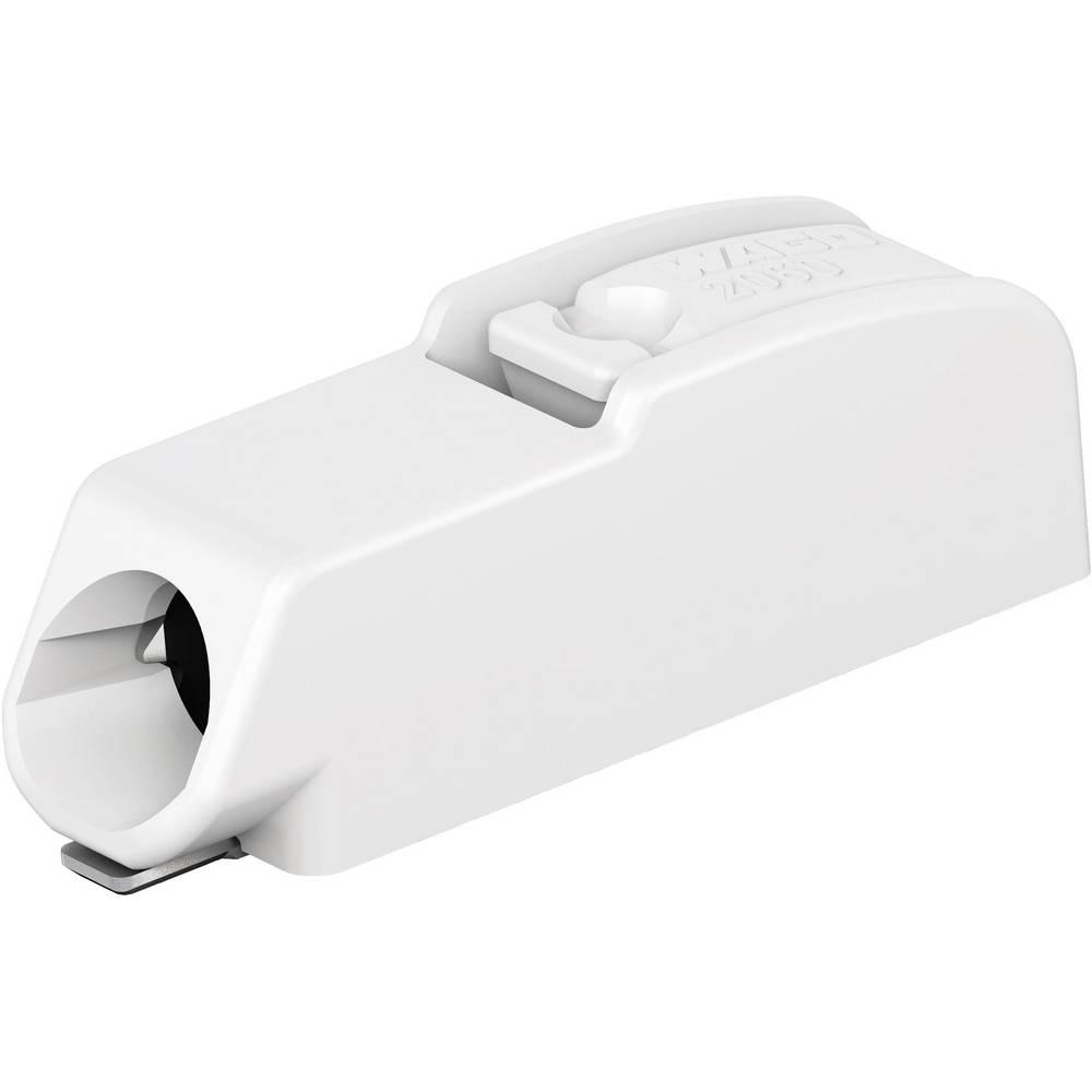 Fjederkraftsklemmeblok WAGO 0.75 mm² Poltal 1 Hvid 1 stk