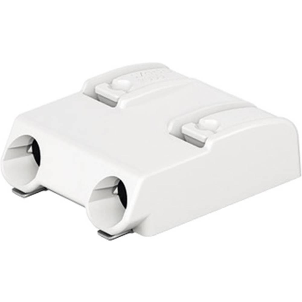 Fjederkraftsklemmeblok WAGO 0.75 mm² Poltal 2 Hvid 1 stk