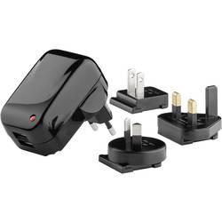 USB-vtični polnilnik Goobay 43796 izhodna napetost (max.) 2000 mA 2 x USB mit UK-Adapter, z Avstralskim adapterjem mit U