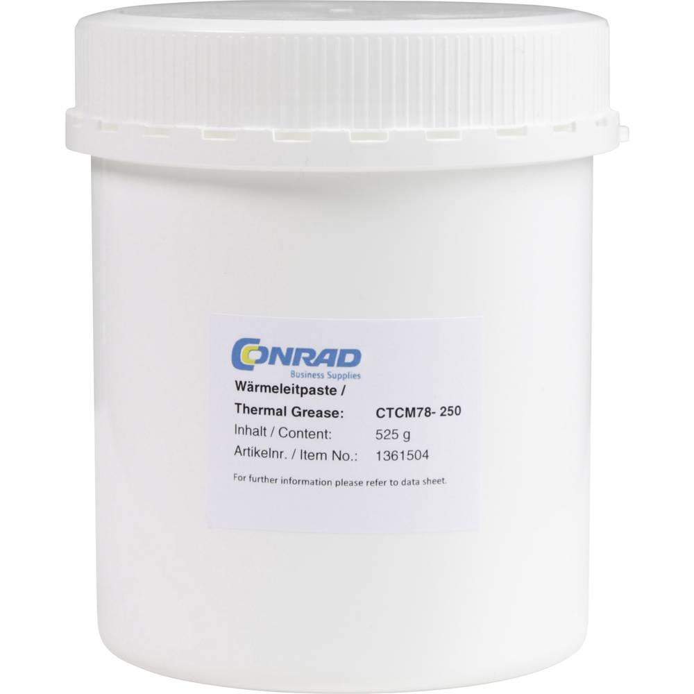 Toplotno prevodna pasta 7.8 W/mK 525 g temperatura (maks.): 150 °C Conrad Components CTCM78-250 doza 525 g