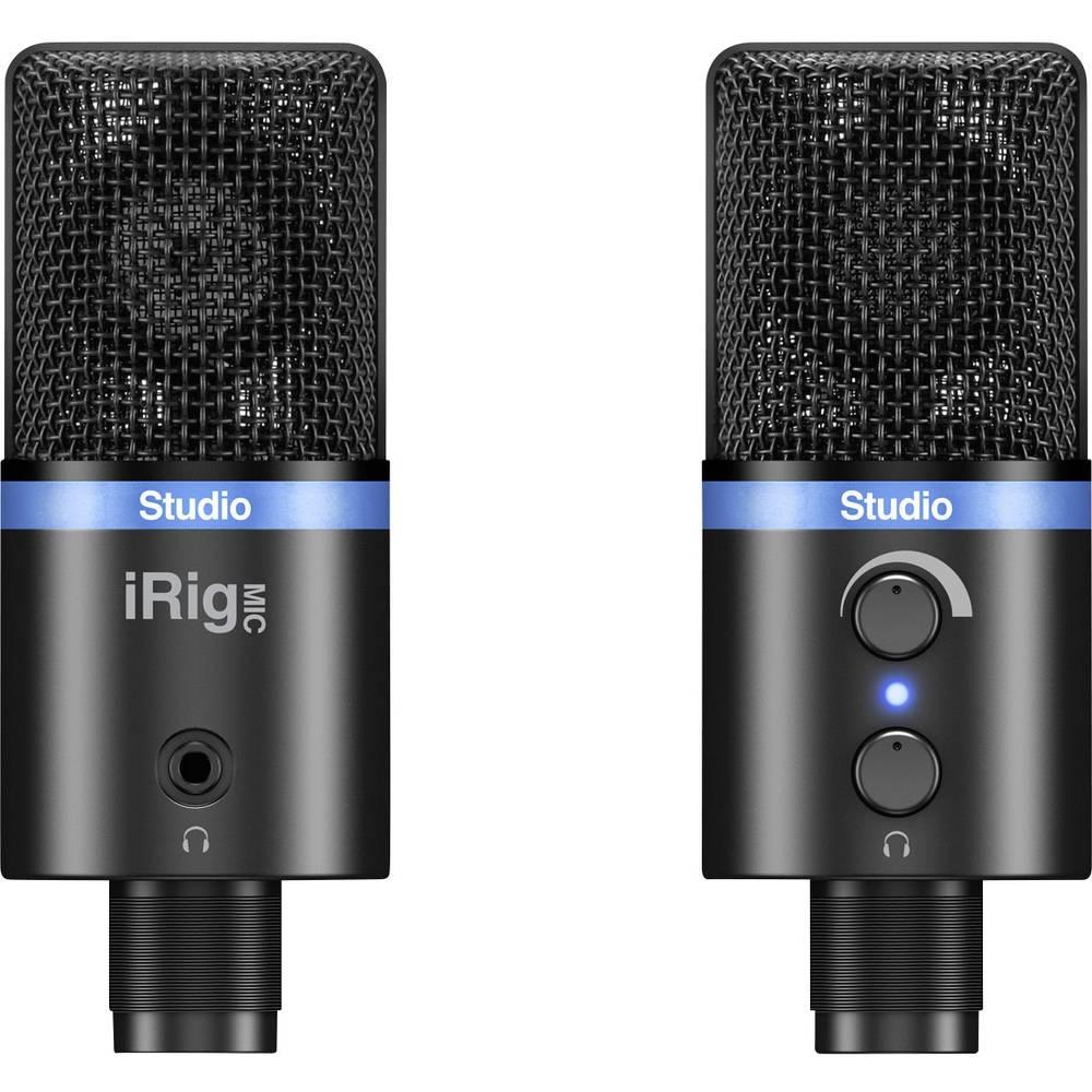 Pevski mikrofon IK Multimedia IRIG MIC STUDIO BLACK stoječi,žični,vključuje objemko,stojalo,kovinsko ohišje
