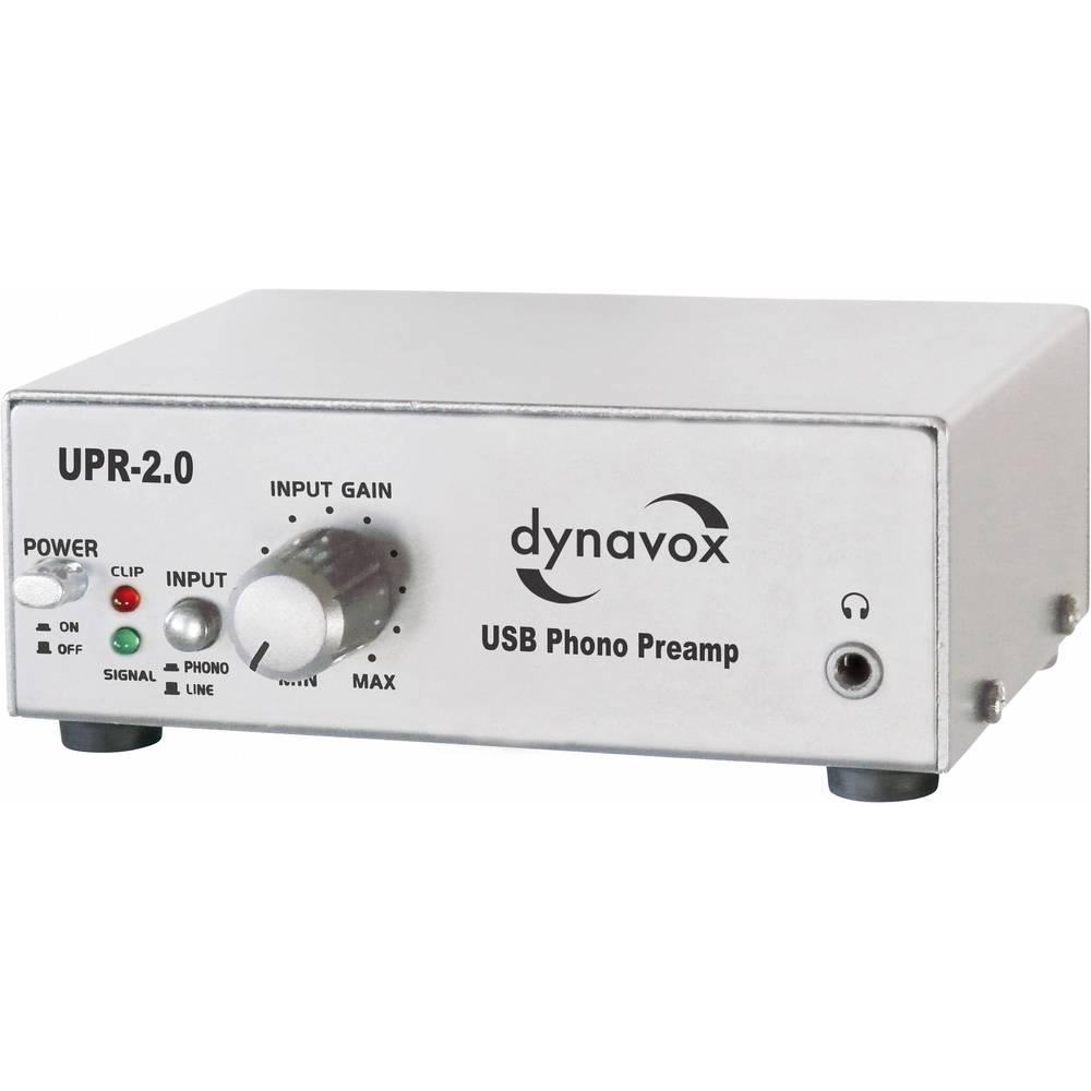 USB fono predpojačalo UPR-2.0 Dynavox srebrna