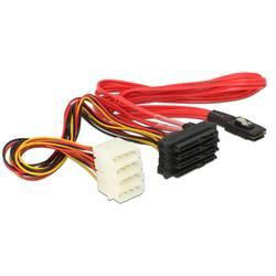 Priključni kabel za trdi disk [1x mini SAS vtič (SFF-8087) - 4x SATA-kombinirani vtič 7+15 pinski, priključek za IDE za napajanj