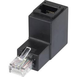 RJ45 mrežni adapter CAT 5e pod kutom od 90° prema gore [1x RJ45 utikač - 1x RJ45 utikač ženski] Renkforce 0 m, crni