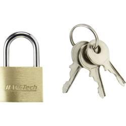 Ključavnica, medenina 20 mm Basetech s 3 ključi 1362630 zlata-rumena