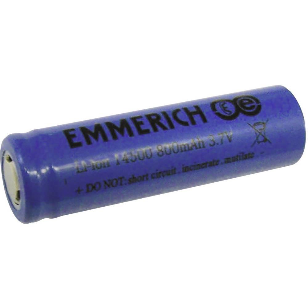 Emmerich Li-Ion-akumulator 14500 3.7 V 800 mAh ( x V) 14 mm x 50 mm