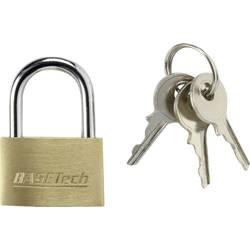 Ključavnica, medenina 25 mm Basetech s 3 ključi 1362939 zlata-rumena
