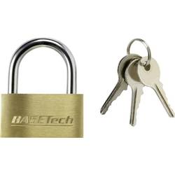 Ključavnica, medenina 40 mm Basetech s 3 ključi 1362992 zlata-rumena