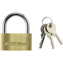 Ključavnica, medenina 50 mm Basetech s 3 ključi 1363029 zlata-rumena