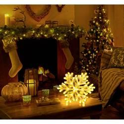 Namizna dekoracija, snežinka LED Polarlite LDE-04-005 bela