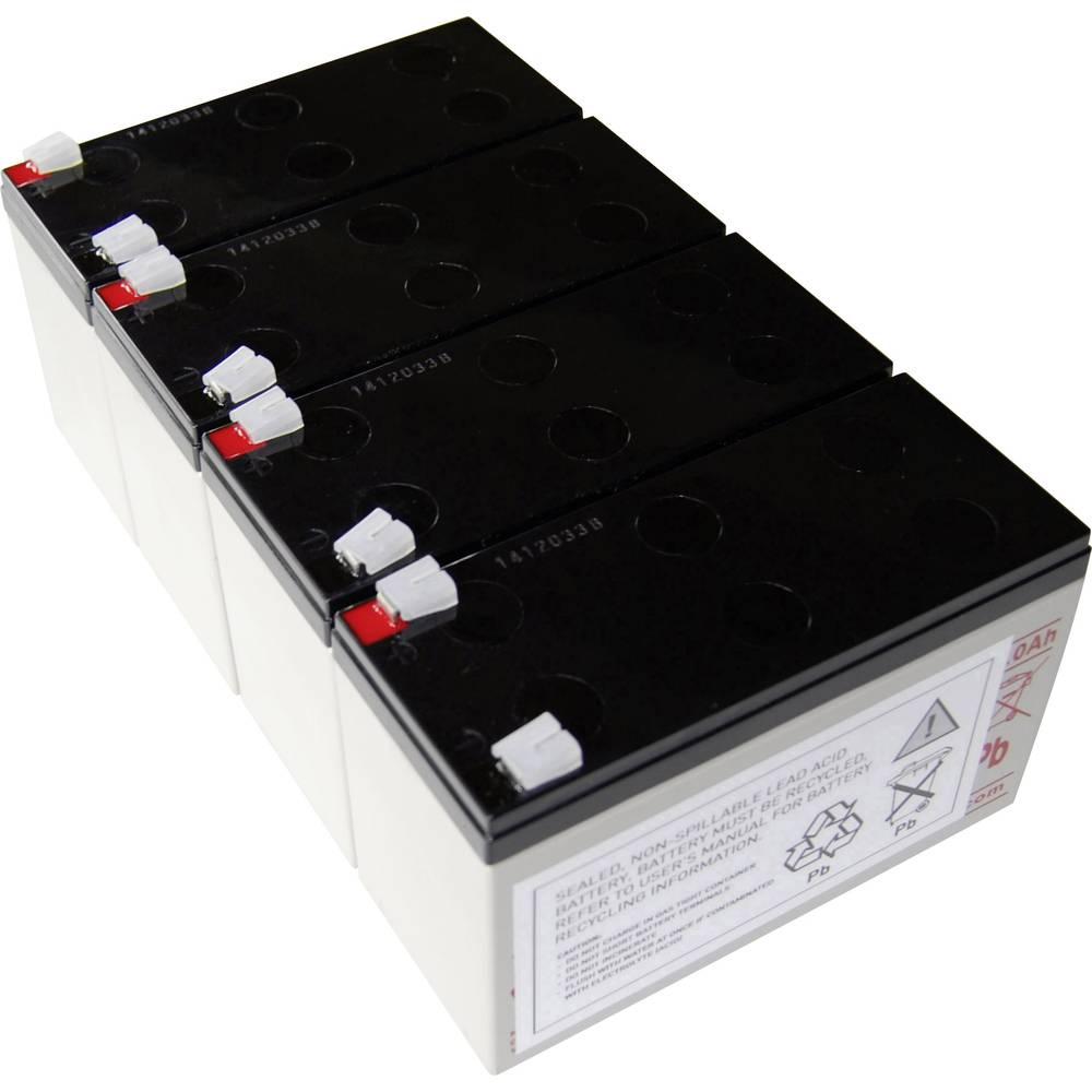 Baterija za UPS Conrad energy, nadomešča izvirnik baterije AEG B Pro 1400 je združljiv z modelom (Drugo) Protect B Pro 1400