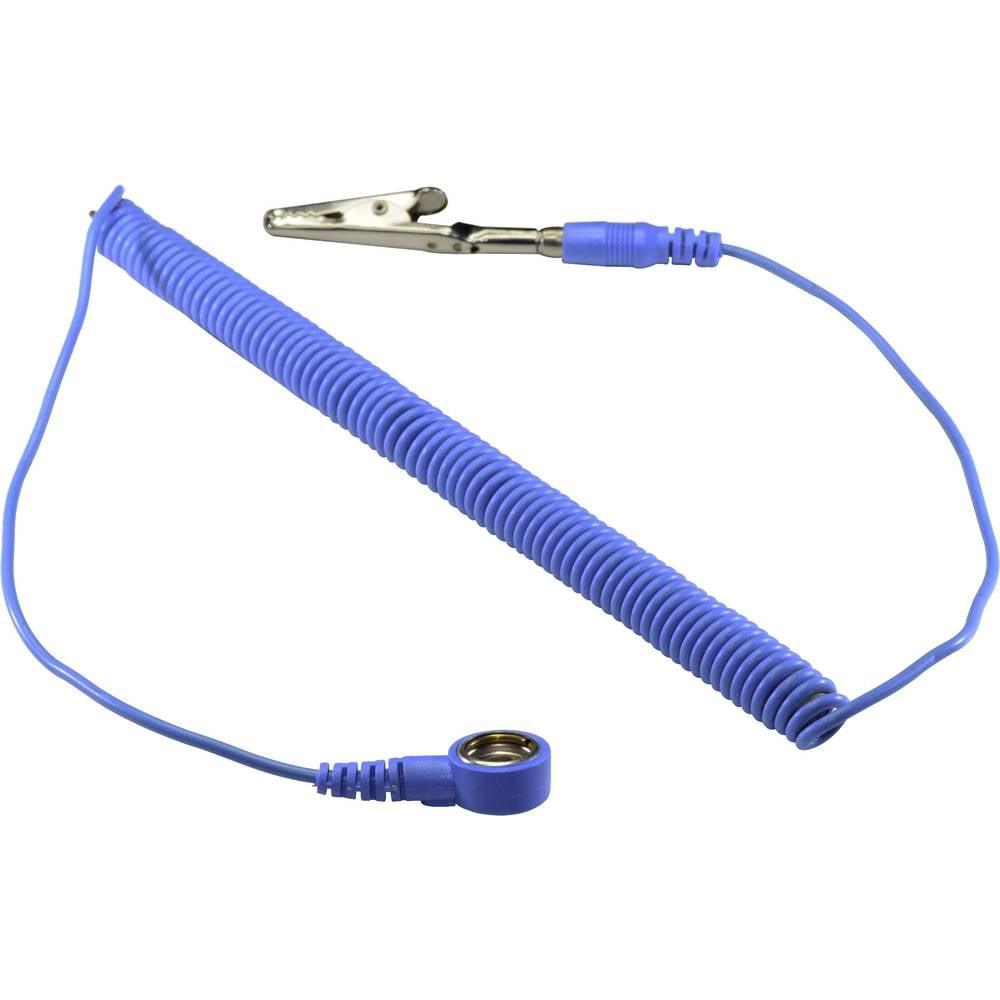 ESD ozemljitveni kabel 3.66 m Conrad Components SpKL-10-366-SK pritisni gumb 10 mm, krokodil sponka