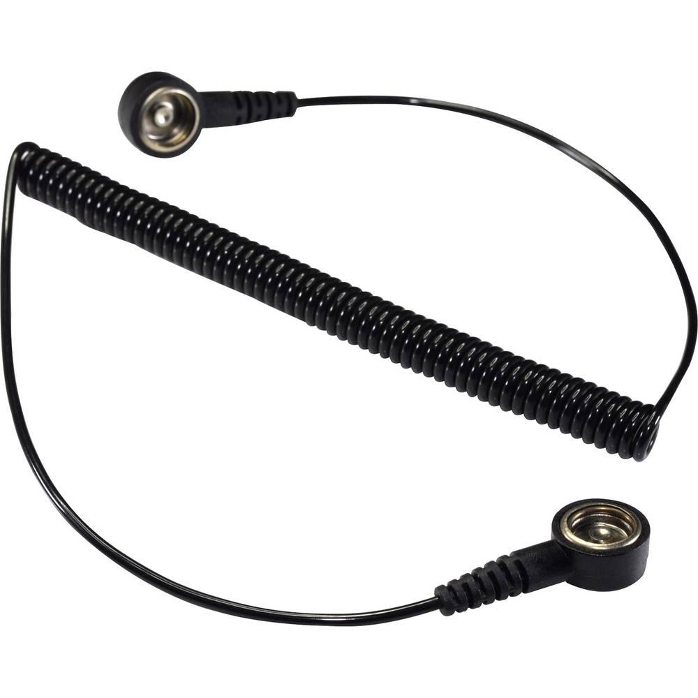 ESD ozemljitveni kabel 3.66 m Conrad Components SpKL-4-366-KK pritisni gumb 4 mm, pritisni gumb 4 mm