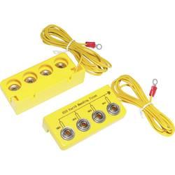 ESD ozemljitvena škatla, L- oblika, vklj. Ozemljitveni kabel 3.05 m TRU COMPONENTS EBO-SETL-10-305-R pritisni gumb 10 mm, ušesce