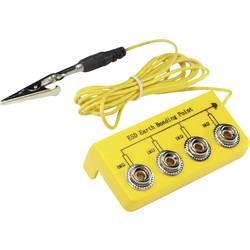 ESD ozemljitvena škatla L-oblika, vklj. ozemljitveni kabel 3.05 m Conrad Components EBO-SETL-10-305-S/K pritisni gumb 10 mm, kro