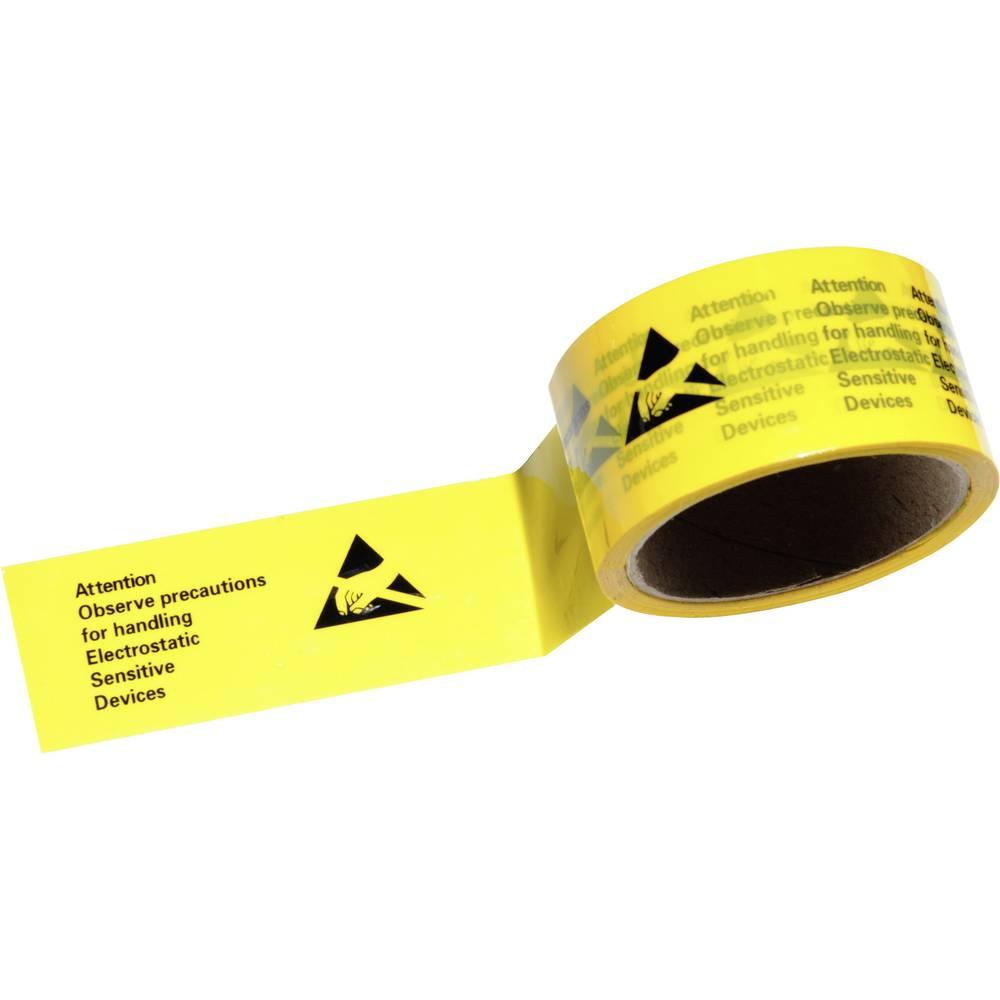 ESD-tape Conrad Components ESDBA-Y-50M ESDBA-Y-50M Gul, Sort 1 Rolls