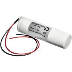 Nödljusbatteri Emmerich 24D4000S Kabel 2.4 V 4000 mAh