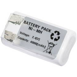 Nödljusbatteri Emmerich 2443FA4000R U-lödfana 2.4 V 4000 mAh