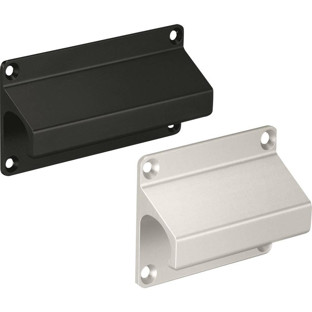 Pločasta ručka LF Rohde LF-01.068.04 (D x Š) 80 mm x 60 mm aluminij crna