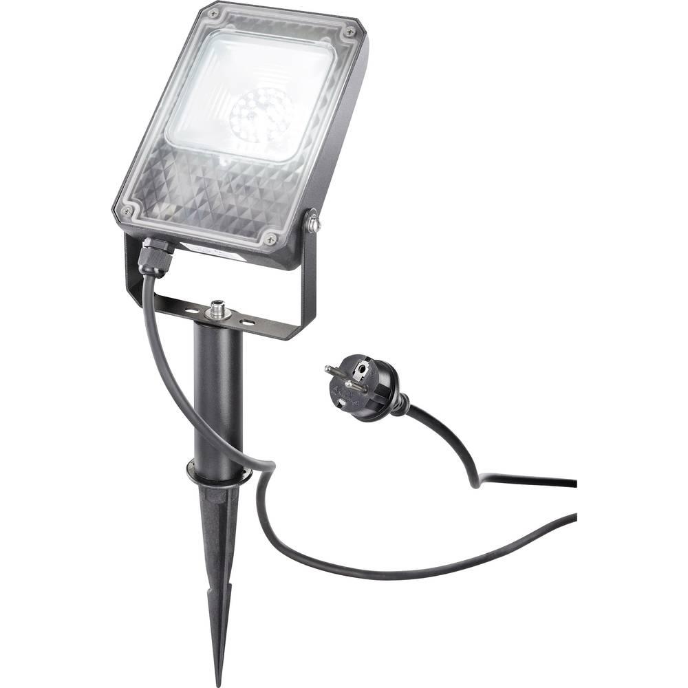 LED vanjski reflektor 10 W hladno-bijelo svjetlo Esotec UNI 105216 crna