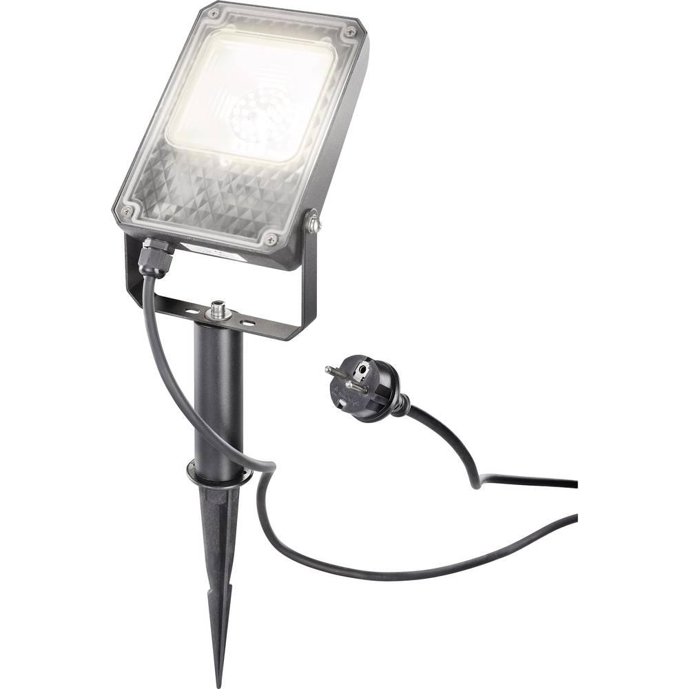 LED vanjski reflektor 10 W toplo-bijelo svjetlo Esotec UNI 105217 crna