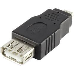 USB 2.0 adapter Renkforce [1x USB 2.0 utikač Micro-B - 1x USB 2.0 utičnica A] crna