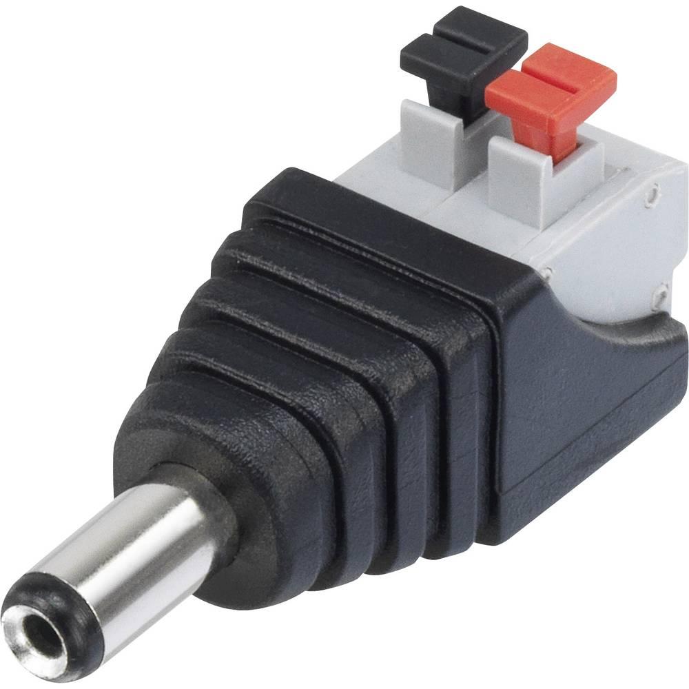 Nizkonapetostni konektor, raven vtič 5.5 mm 2.1 mm Conrad Components QT-DC2.1M 1 kos