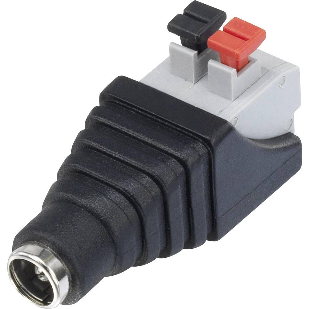 Niskonaponski konektor, utičnica, ravna 5.5 mm 5.5 mm 2.1 mm Conrad Components QT-DC2.1F 1 kom.