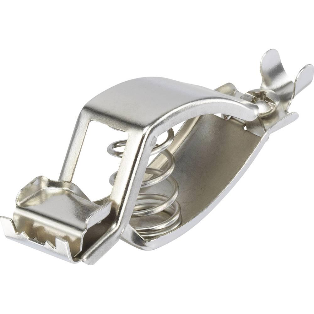 Baterijska sponka srebrne barve, vpenjalno območje max.: 13.5 mm dolžina 79 mm TRU Components 1-77-1 1 kos