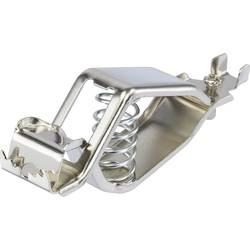 Baterijska sponka srebrne barve, vpenjalno območje max.: 18.2 mm dolžina: 107 mm TRU COMPONENTS 1-78-1 1 kos