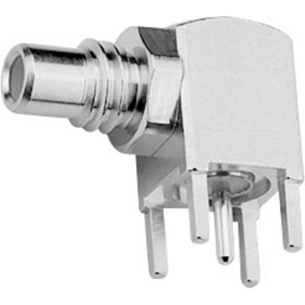 SMC-stikforbindelse Telegärtner J01170A0101 50 Ohm Printstik, vinklet 1 stk
