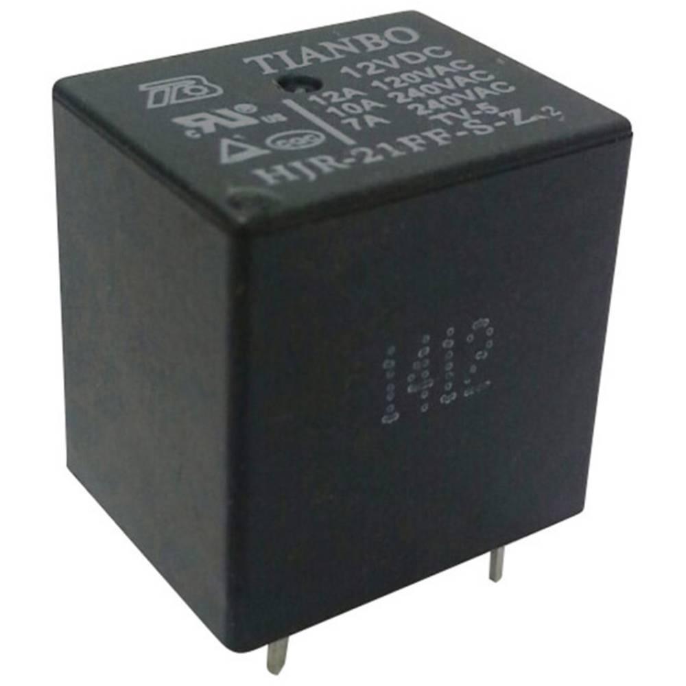 Rele za tiskana vezja 12 V/DC 15 A 1 preklopni Tianbo Electronics HJR-21FF-S-Z 12VDC 1 kos