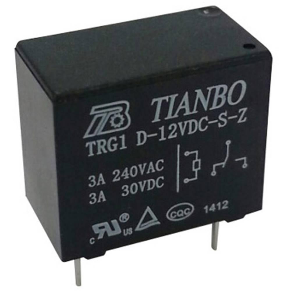 Rele za tiskana vezja 12 V/DC 5 A 1 preklopni Tianbo Electronics TRG1 D-12VDC-S-Z 1 kos