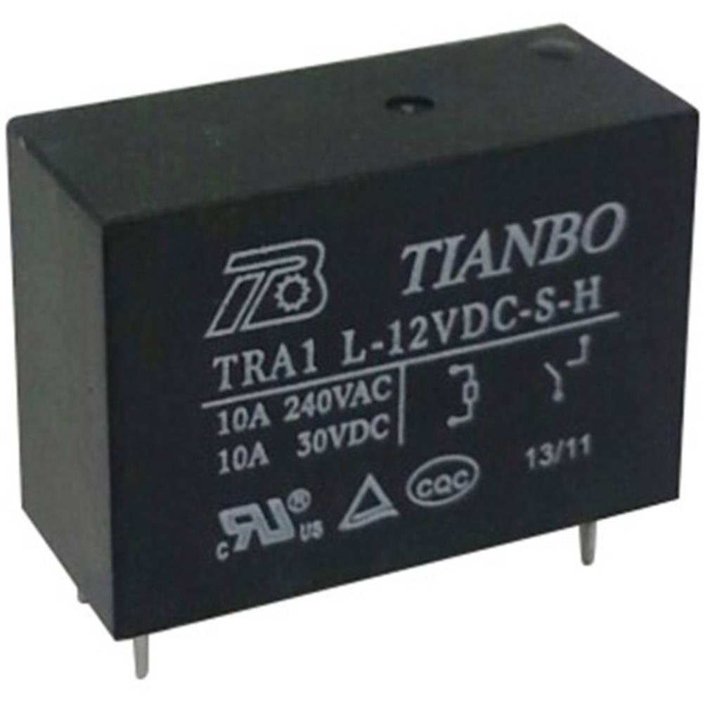 Rele za tiskana vezja 12 V/DC 12 A 1 zapiralni Tianbo Electronics TRA1 L-12VDC-S-H 1 kos