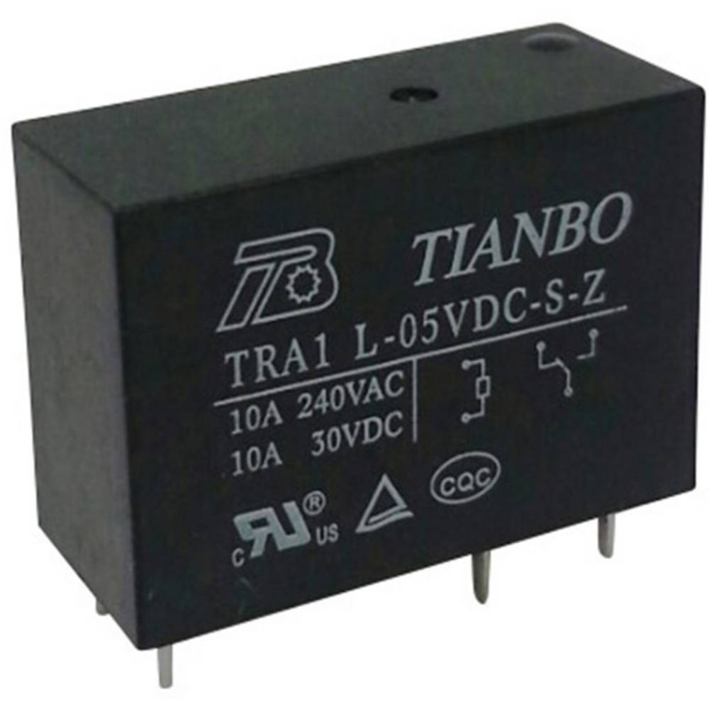 Rele za tiskana vezja 5 V/DC 12 A 1 preklopni Tianbo Electronics TRA1 L-5VDC-S-Z 1 kos