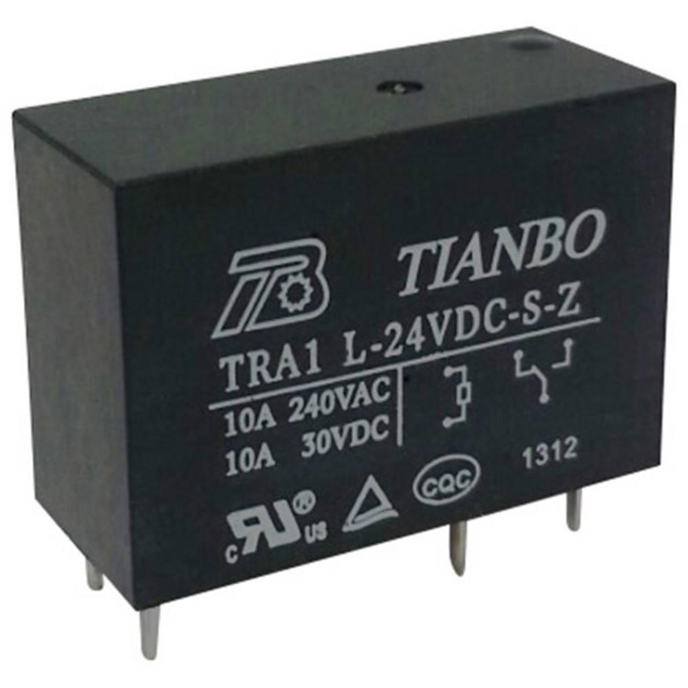 Printrelæ 24 V/DC 12 A 1 x skiftekontakt Tianbo Electronics TRA1 L-24VDC-S-Z 1 stk