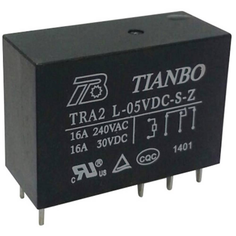 Printrelæ 5 V/DC 20 A 1 x sluttekontakt Tianbo Electronics TRA2 L-5VDC-S-Z 1 stk