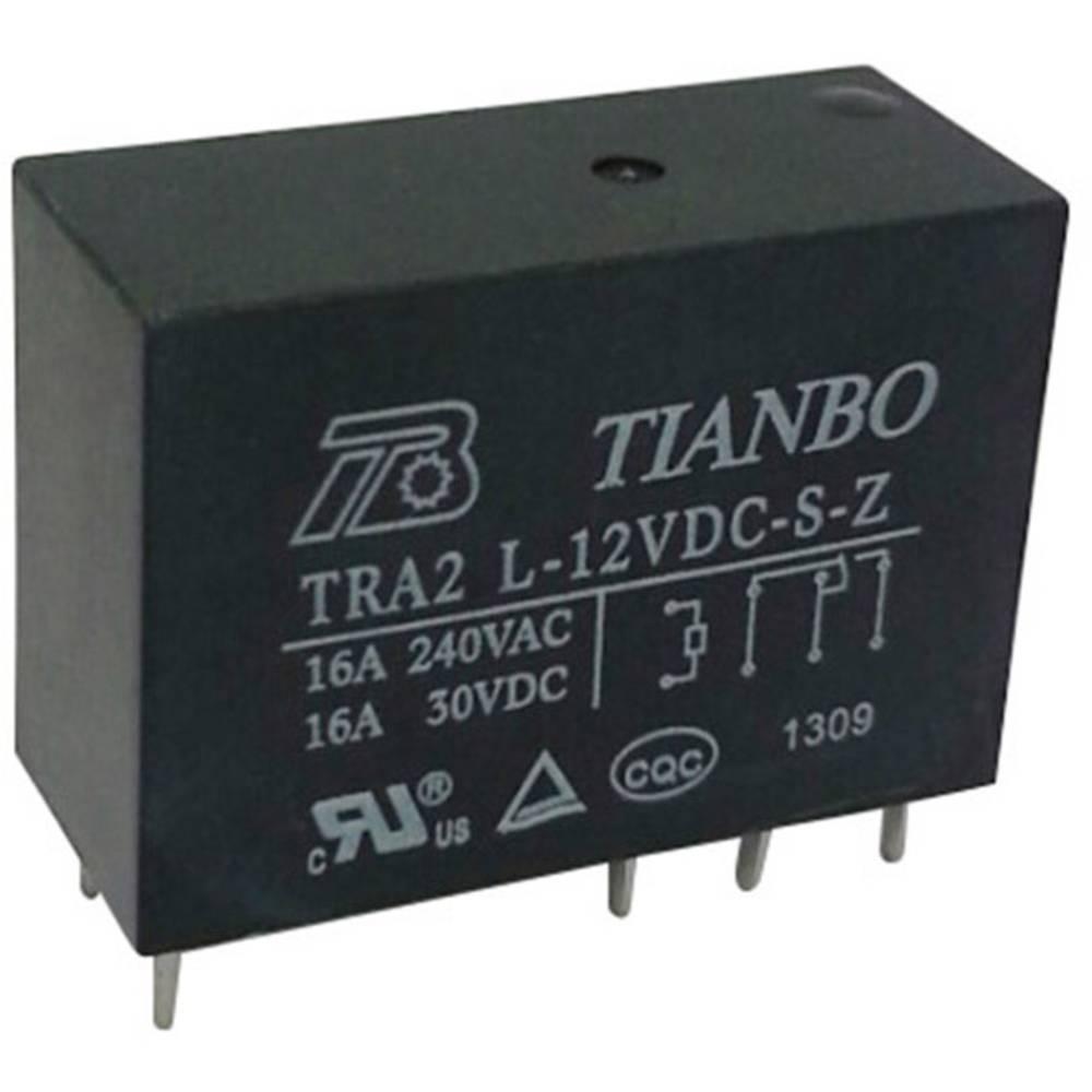 Printrelæ 12 V/DC 20 A 1 x skiftekontakt Tianbo Electronics TRA2 L-12VDC-S-Z 1 stk