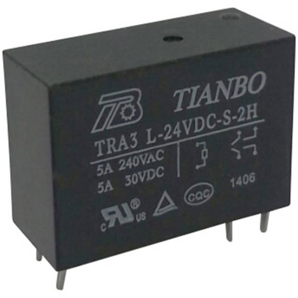 Relej za tiskanu pločicu 24 V/DC 8 A 2 radni kontakt Tianbo Electronics TRA3 L-24VDC-S-2H 1 kom.