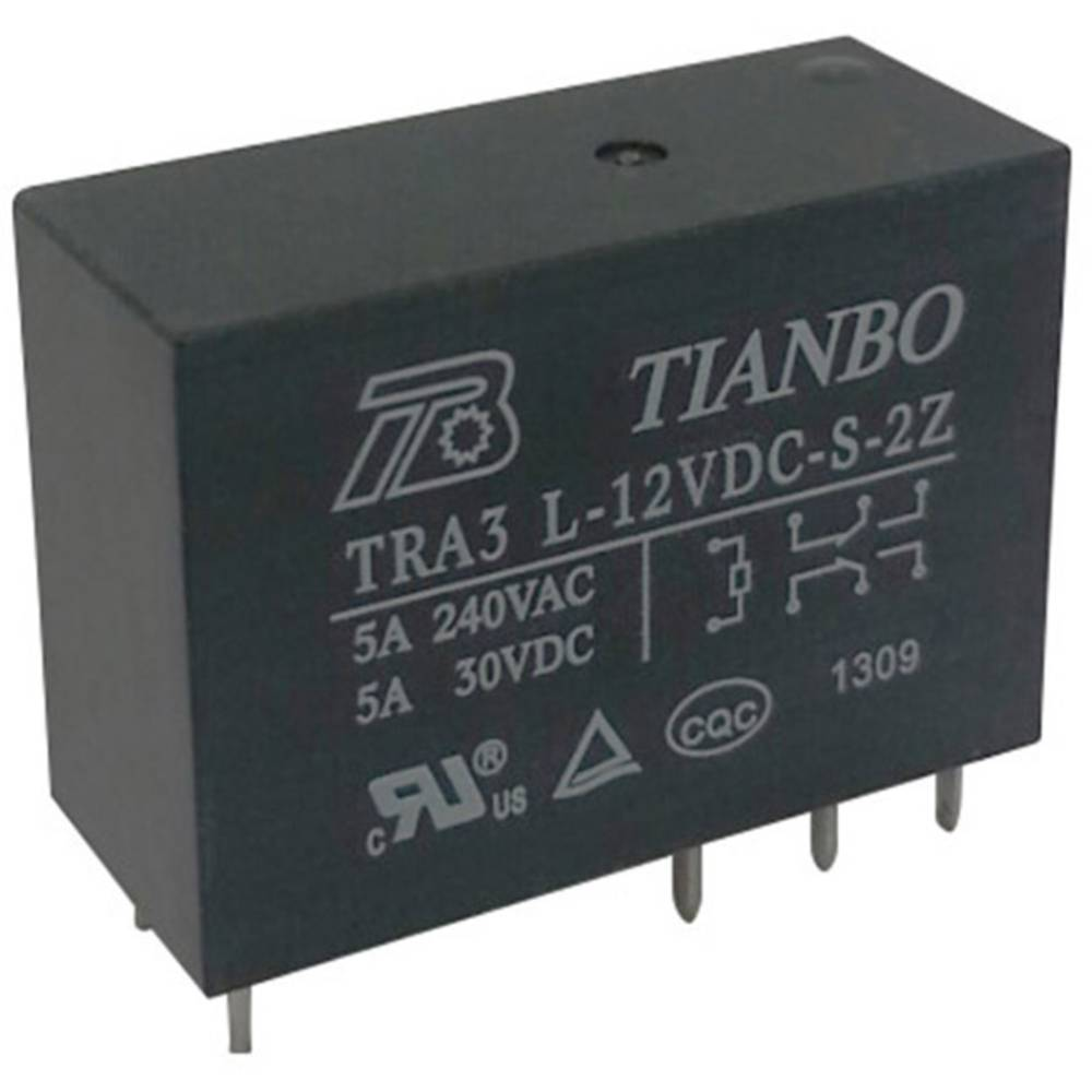 Printrelais (value.1292897) 12 V/DC 8 A 2 Wechsler (value.1345274) Tianbo Electronics TRA3 L-12VDC-S-2Z 1 stk