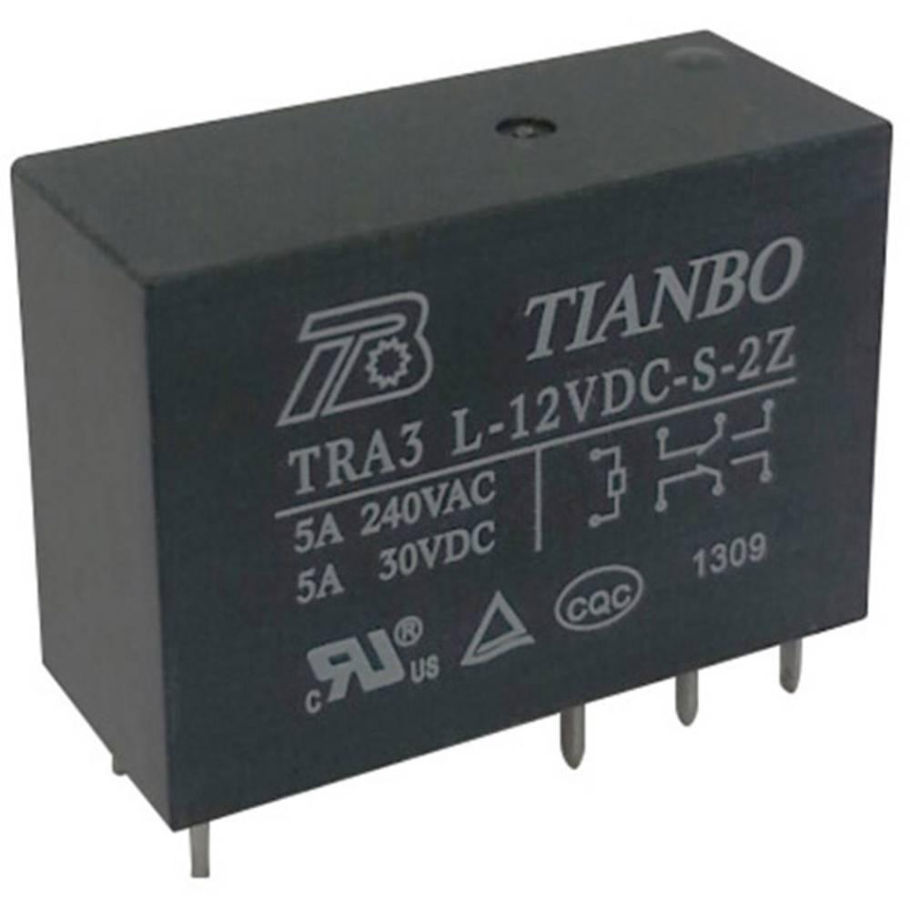 Printrelais (value.1292897) 5 V/DC 8 A 2 Wechsler (value.1345274) Tianbo Electronics TRA3 L-5VDC-S-2Z 1 stk