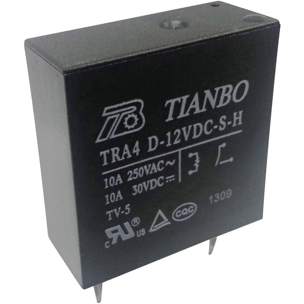 Printrelais (value.1292897) 12 V/DC 10 A 1 Schließer (value.1345270) Tianbo Electronics TRA4 D-12VDC-S-H 1 stk