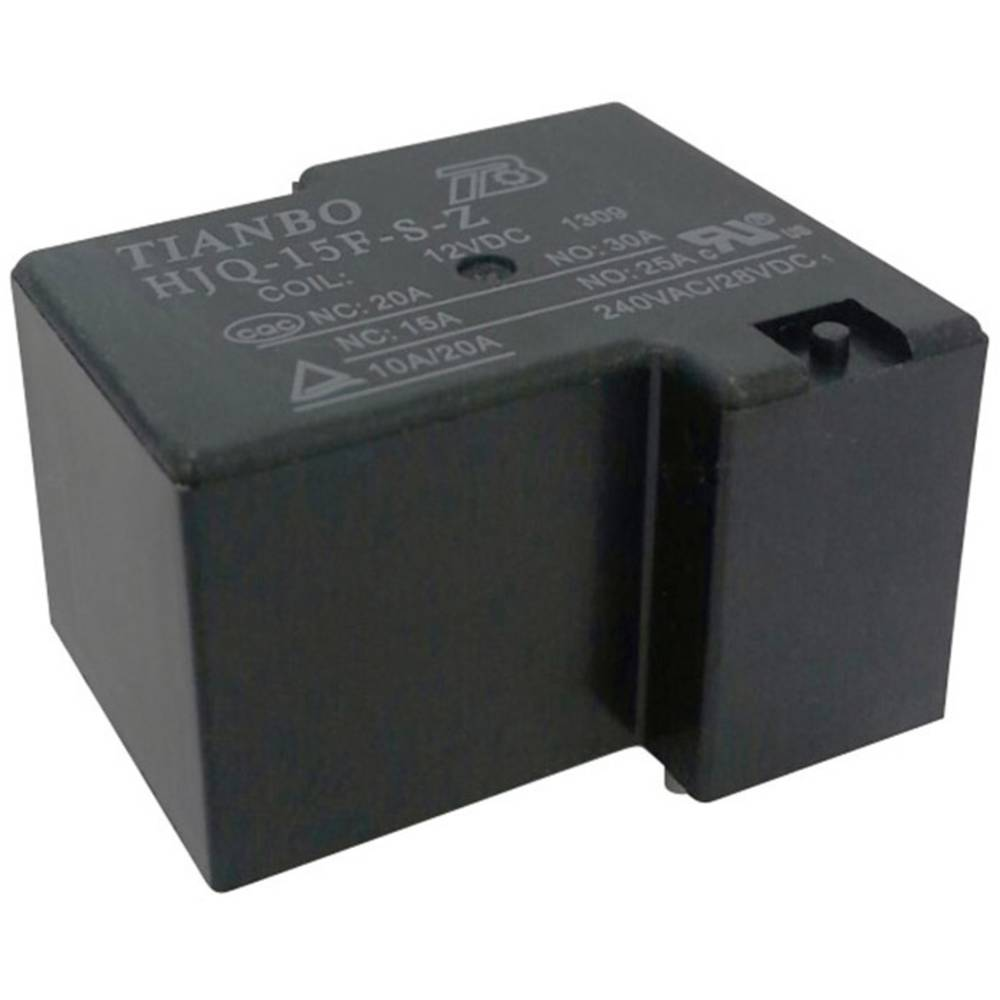 Tianbo Electronics HJQ-15F-S-Z-12VDC Rele za tiskano vezje 12 V/DC 30 A 1 menjalo 1 KOS
