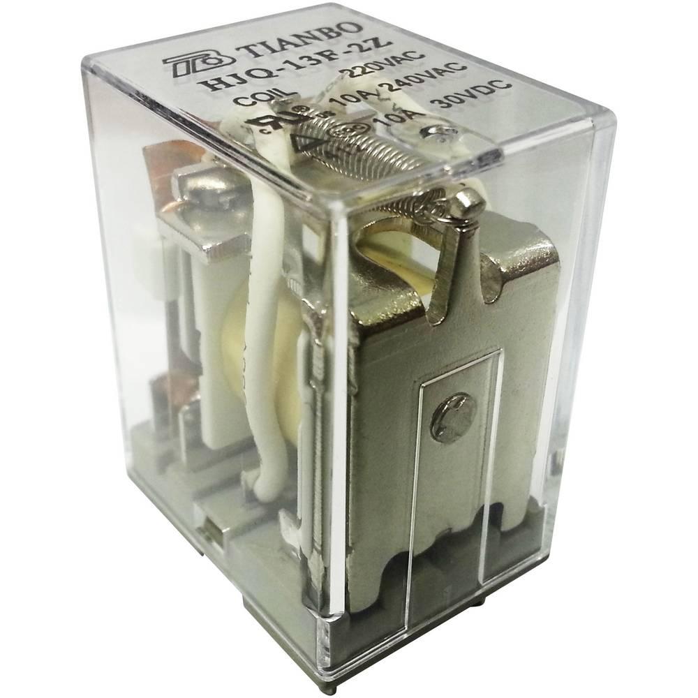 Stikrelæ 230 V/AC 15 A 2 x omskifter Tianbo Electronics HJQ-13F-2Z - 220/240VAC 1 stk