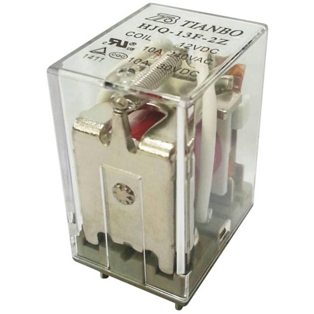 Steckrelais (value.1292892) 12 V/DC 15 A 2 Wechsler (value.1345274) Tianbo Electronics HJQ-13F-2Z -12VDC 1 stk