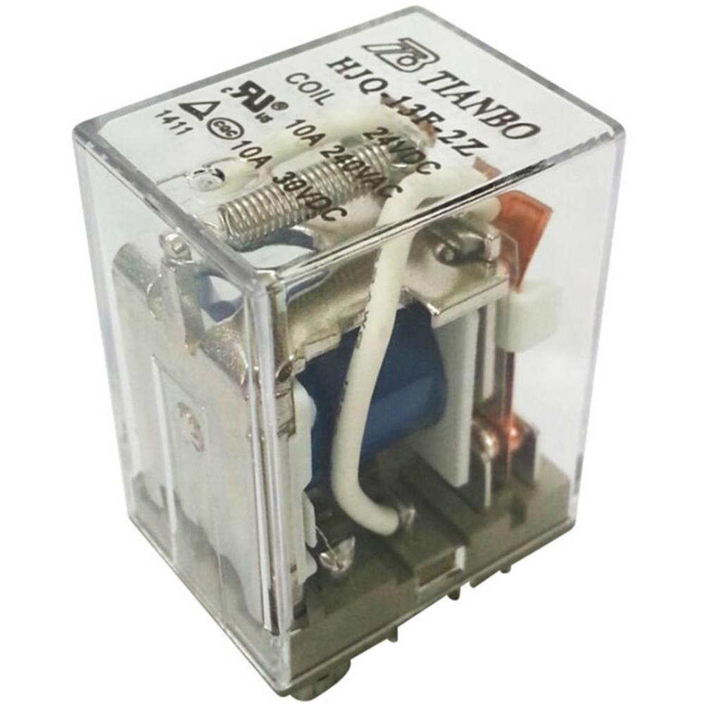 Steckrelais (value.1292892) 24 V/DC 15 A 2 Wechsler (value.1345274) Tianbo Electronics HJQ-13F-2Z -24VDC 1 stk