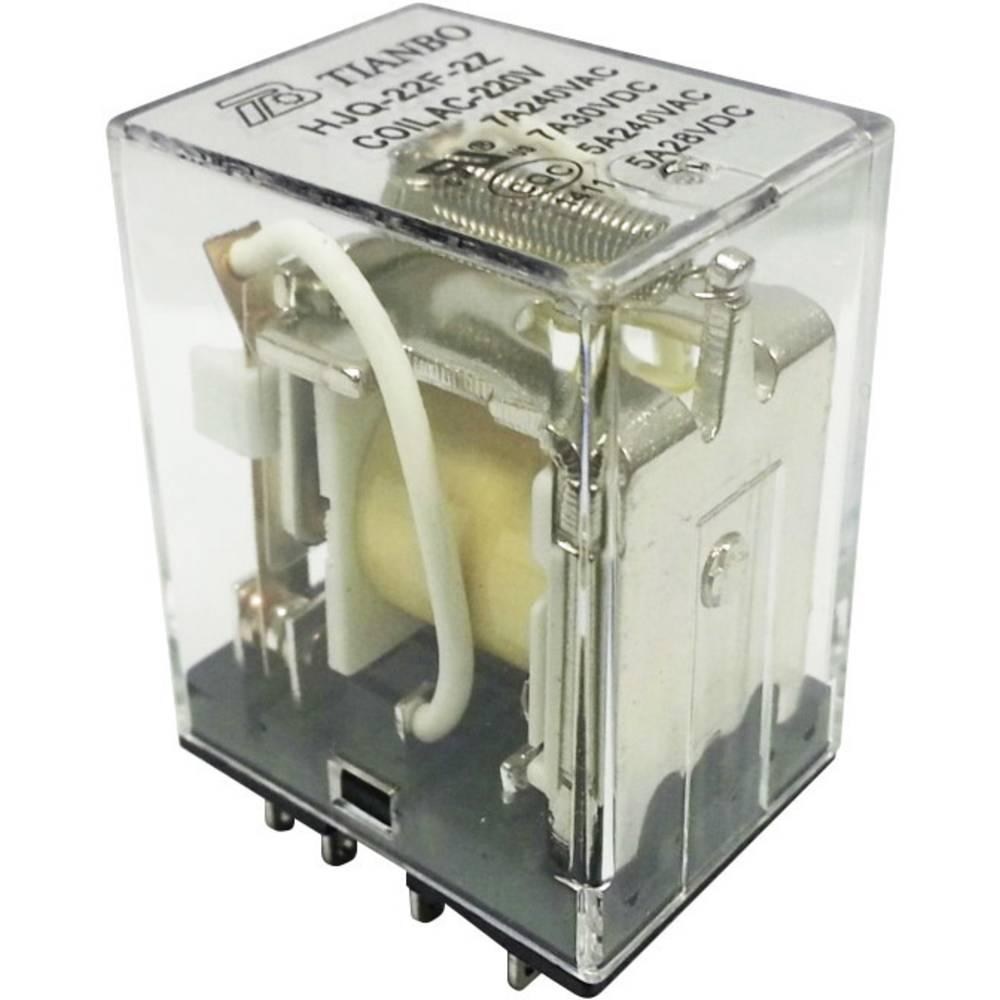 Vtični rele 230 V/AC 7 A 2 preklopni Tianbo Electronics HJQ-22F-2Z -220/240VAC 1 kos