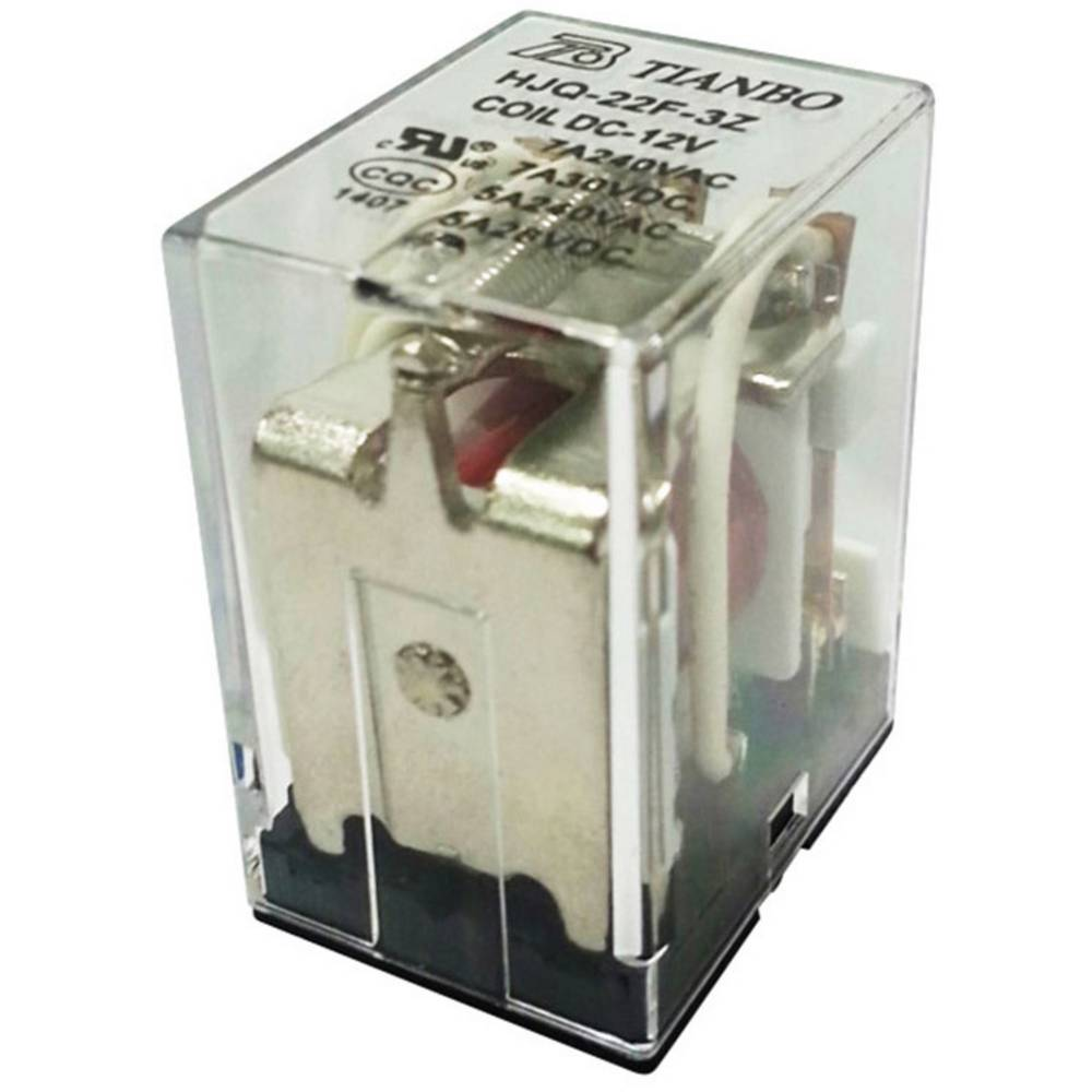 Steckrelais (value.1292892) 24 V/DC 7 A 3 Wechsler (value.1345278) Tianbo Electronics HJQ-22F-3Z -24VDC 1 stk